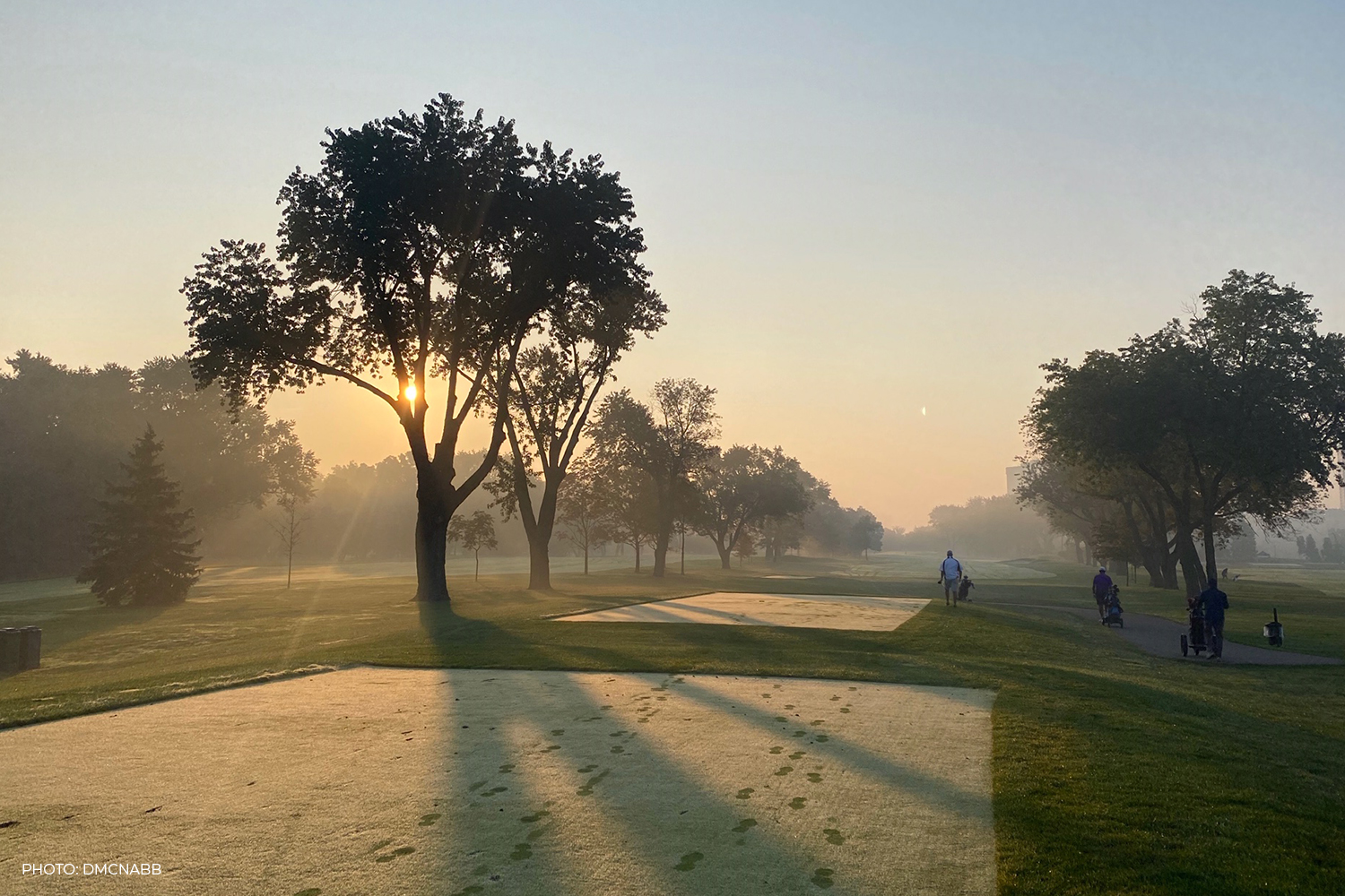 MIsty fall morning on the course at Islington Golf Club